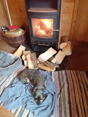Danach vorm warmen Ofen...