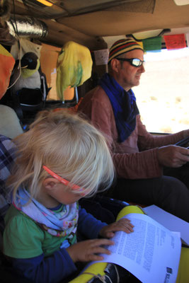 Copilotin Sarah, Roadbook