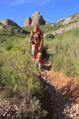 Abstieg Los Mallos