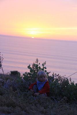Sarah im Sonnenuntergang, terre de ocean