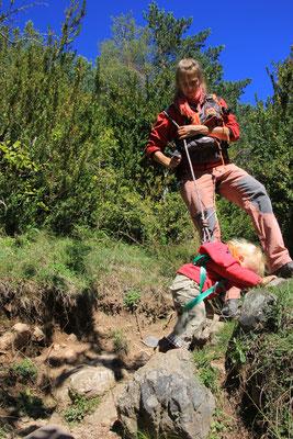 Sarah beim Klettern,Oza, Hecho