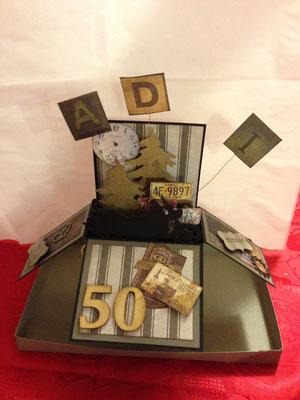 Geburtstagskarte in einer Box
