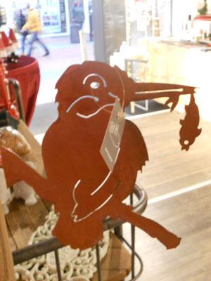 Rostfigur m. Schraube Eisvogel 16,50€