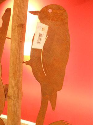 Rostfigur m. Schraube Vogel  13,50€