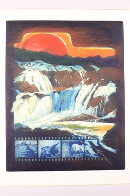 Kaindl Radierung 50 x 60 cm