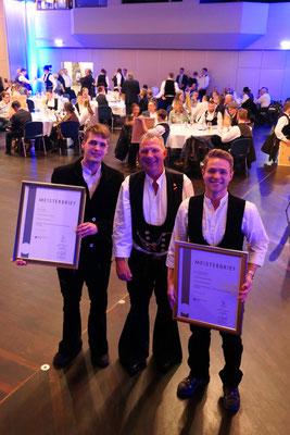 Noah Wick mit Stefan und Louis Zimmermann