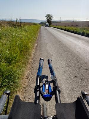 Abchecken der Radstrecke