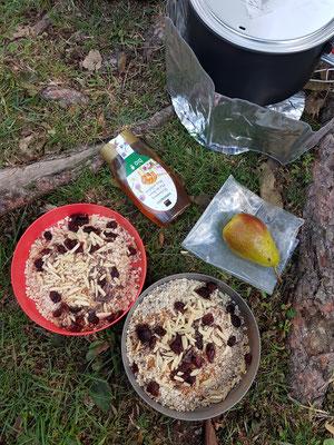 Viel Frühstück für die Weiterfahrt
