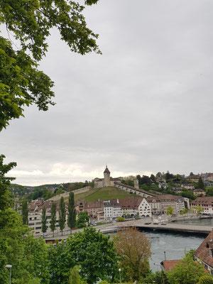 Tag 3 startet mit einer Sightseeing Tour durch die Stadt Schaffhausen