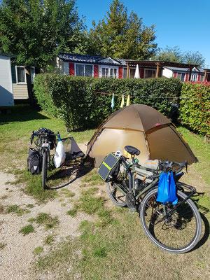 Einchecken auf dem Camping