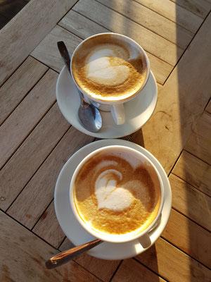 ....und einen guten Kaffee geniessen
