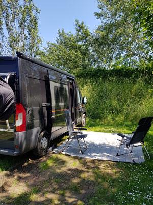 Auf dem Rückweg: Camping in Wien
