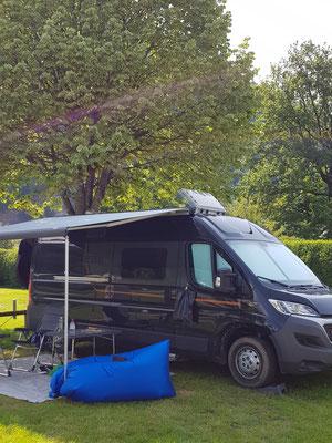 Zurück im Salzkammergut: Camping am Wolfgangsee