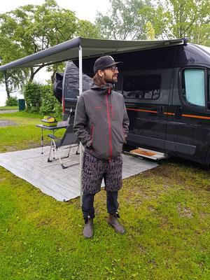 Camping am Mondsee, schöner Platz nur das Wetter stimmte nicht