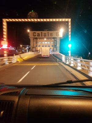 Fähre Calais nach Dover morgens um 5 Uhr