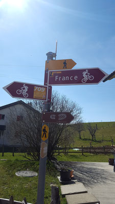 Die Tour führt entlang der französischen Grenze