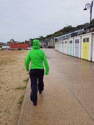 Sightseeing in Lyme Regis im Dauerregen und Wind