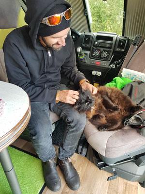 Besuch auf dem Camping bzw. im Campervan