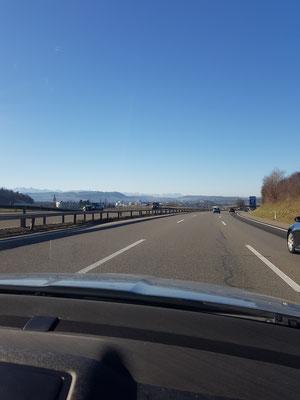 Fahrt in die Westschweiz
