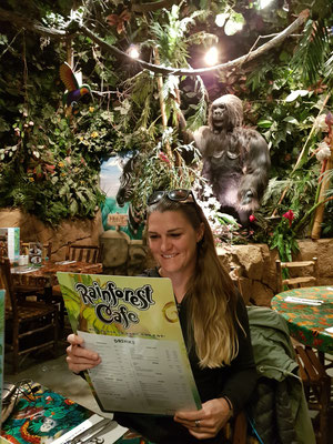 Im Lieblingsrestaurant Rainforest Cafe