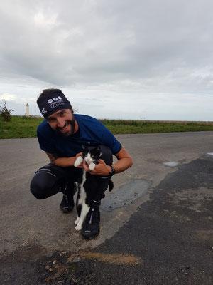 Trailrun nach Étretat: Mike findet überall Katzen
