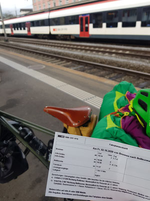 Wegen dem schlechten Wetter gibt es die Variante Zug von Brunnen bis Bellinzona
