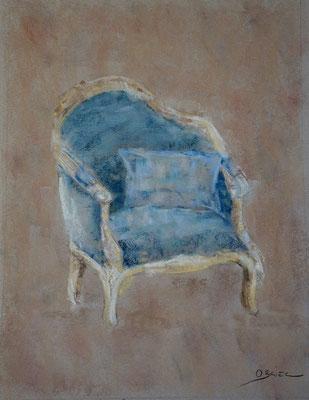 fauteuil Voltaire - pastel - 40x30