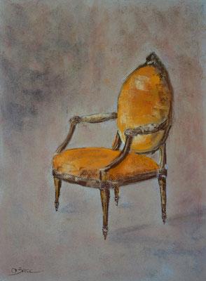 fauteuil Louis XVI - pastel - 40x30
