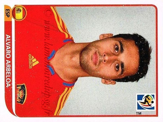2010 - Panini FIFA World Cup South Africa Stickers - N° 570 - Alvaro ARBELOA (Espagne)