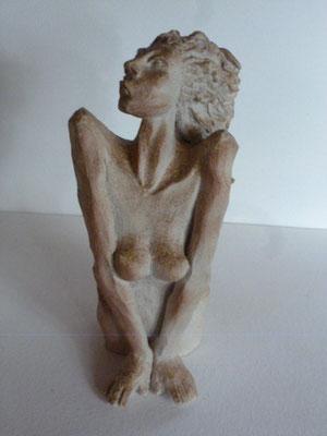 """""""Naïade"""" Sculpture grès noir cuisson Noborigama H25cm """"Pièce Unique"""" -Juan José Ruiz dit """"Caco""""  Artiste Sculpteur/Auteur"""