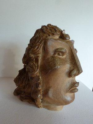 """""""Figure des îles"""" Sculpture grès noir cuisson Noborigama H21cm """"Pièce Unique"""" -Juan José Ruiz dit """"Caco""""  Artiste Sculpteur/Auteur"""