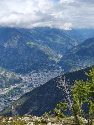 Blick ins Walliser Haupttal