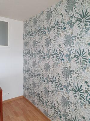Pose papier-peint, espace détente