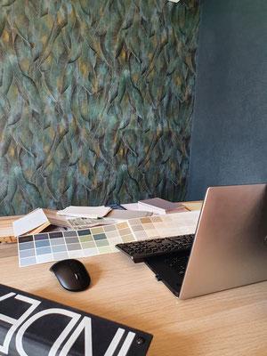 nouvelle identité bureaux Ophice, Chinon 37 ; décoratrice d'intérieur UFDI Centre val de Loire