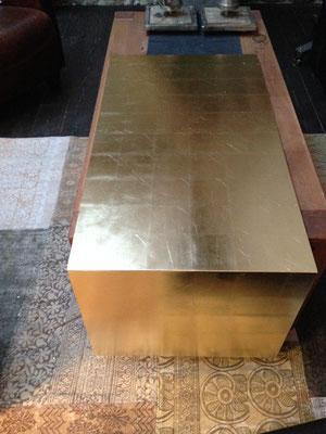 Vergoldete Tischplatte