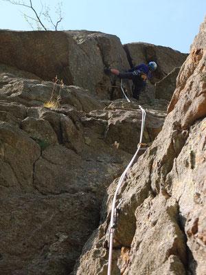 escalade hérault- caroux -dans les gorges d'héric