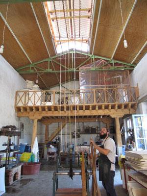 Atelier de fabrication de papier de gravure