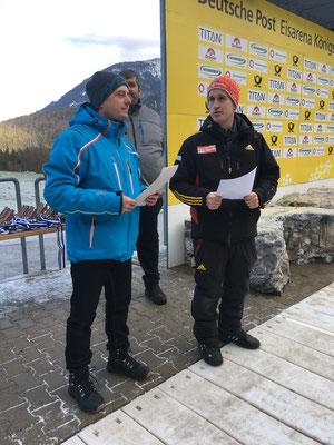 SVBF Vorstand Matschina und Landestrainer Graitl