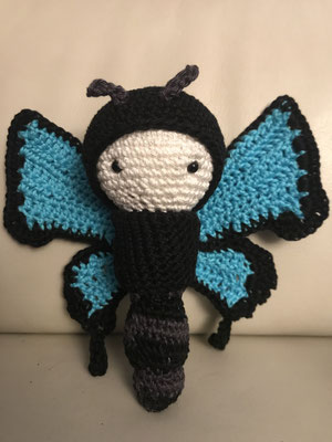 Schmetterling mit austauschbarer Kappe und Flügel, 20 cm, 40 CHF