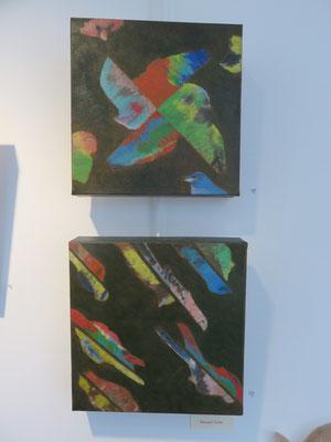 Deux  peintures de maryam Sadet