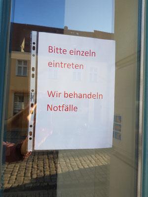 Notbetrieb im MVZ Herzberg