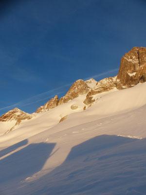 La Grande Ruine enneigée et le glacier sans aucunes traces 05/04/19