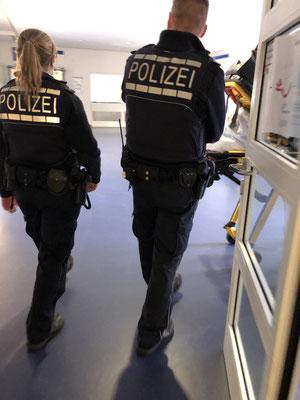 Auch schon mal mit der Polizei unterwegs