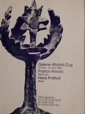 Franco Annoni, Hans Potthof Ausstellung, Zug 1964