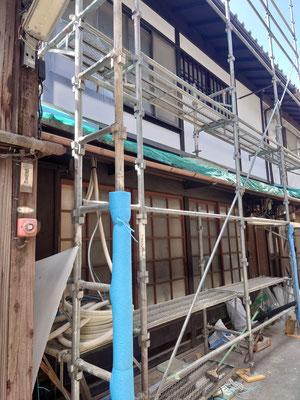 京町家改装工事_外観修繕完了