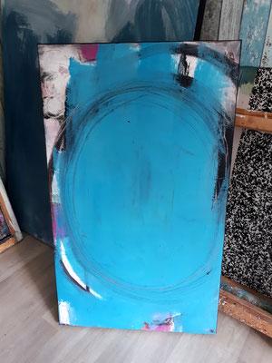 blaues Bild - Spieglein Spieglein an der Wand