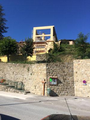 Carros Construction - maçonnerie de la chapelle de Lantosque