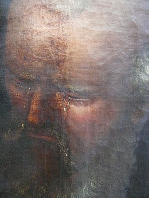 Reinigung eines vergilbten Gemäldefirnisses