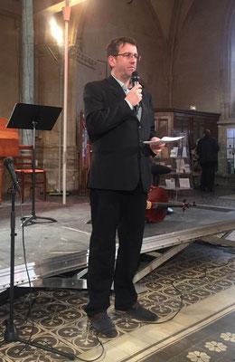 Mickaël Durand, professeur d'orgue au conservatoire régional d'Alencon.