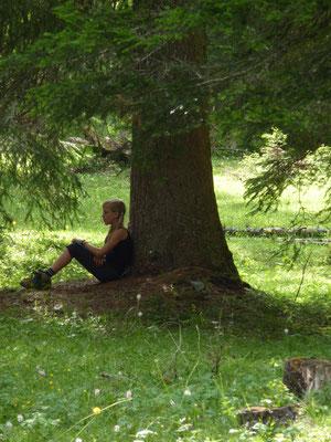 Allein mit dem Baum - ein spezielles Erlebnis